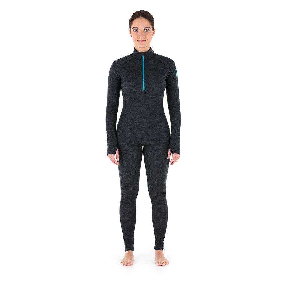 Černé dámské spodky Nora Merino W Pants, Zajo - velikost XL
