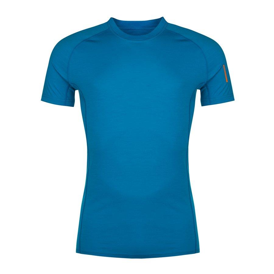 Modré pánské tričko s krátkým rukávem Bjorn Merino Tshirt SS, Zajo