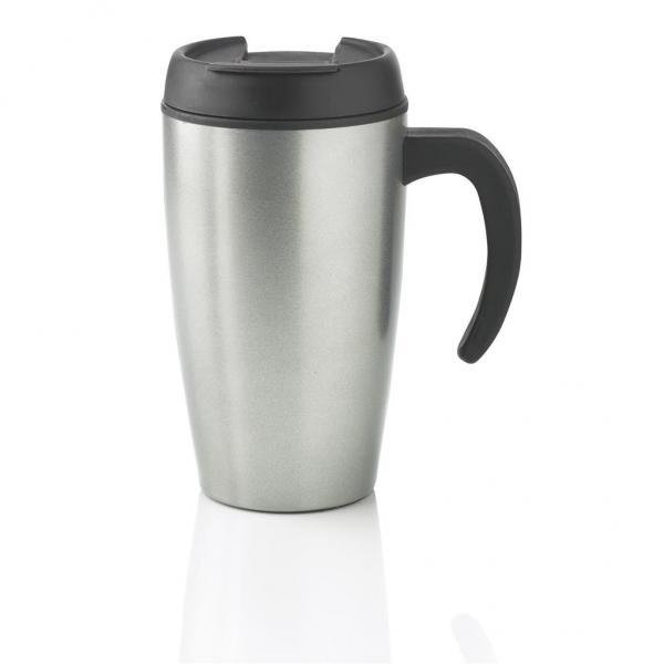 Stříbrný hrnek termo Urban, XD Design - objem 400 ml