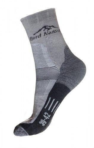 Šedé pánské ponožky Hike Low, Fjord Nansen