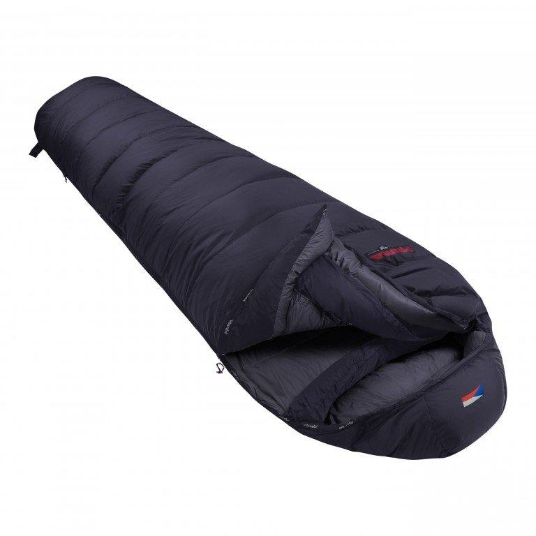 Černý péřový zimní spacák s levým zipem GLACIER 900, Prima - délka 200 cm