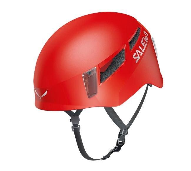 Červená horolezecká helma Pura, Salewa