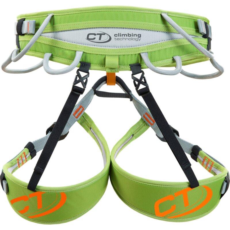 Zelený sedací úvazek Climbing Technology ASCENT HARNESS - velikost L-XL