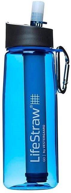 Modrá filtrační láhev Go2 Stage, LifeStraw - objem 0,65 l