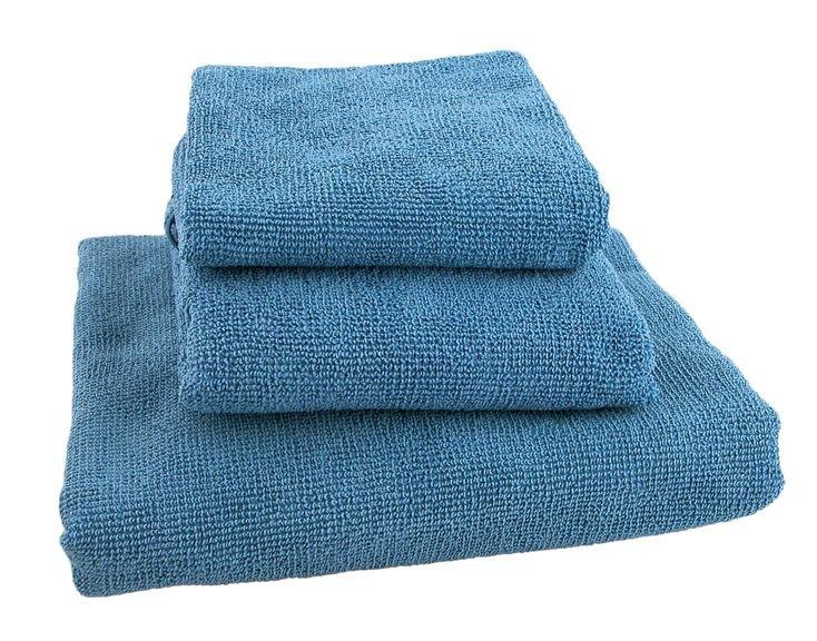 Modrý rychleschnoucí ručník terry, Acron - velikost L a 60x120 cm