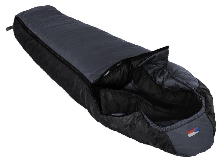 Šedý spacák s levým zipem MANASLU 200/80, Prima - délka 200 cm