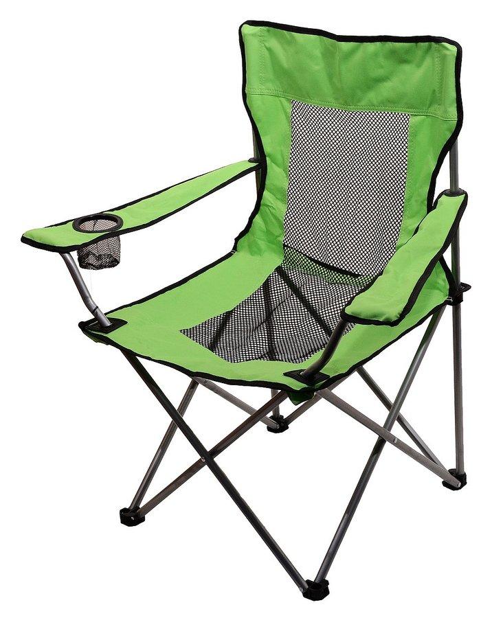 Zelená skladací židle Cattara NET