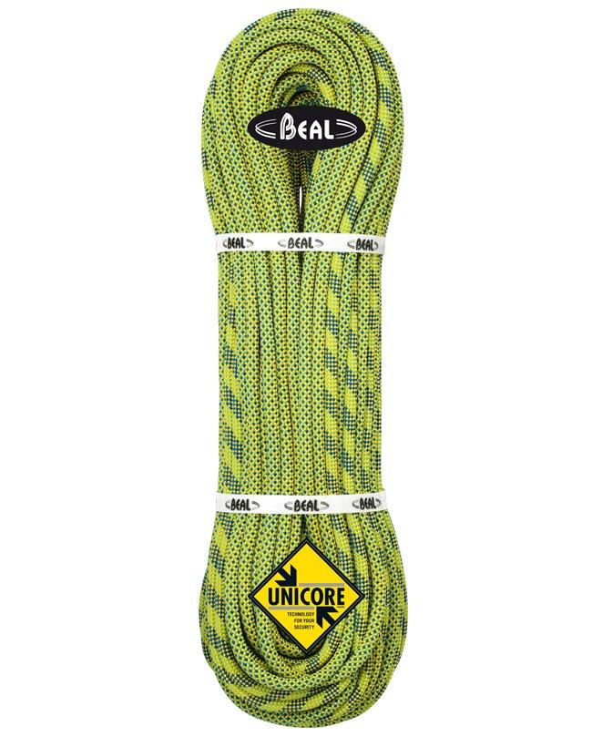 Zelené lano Booster Unicore, Beal - délka 70 m a tloušťka 9,7 mm
