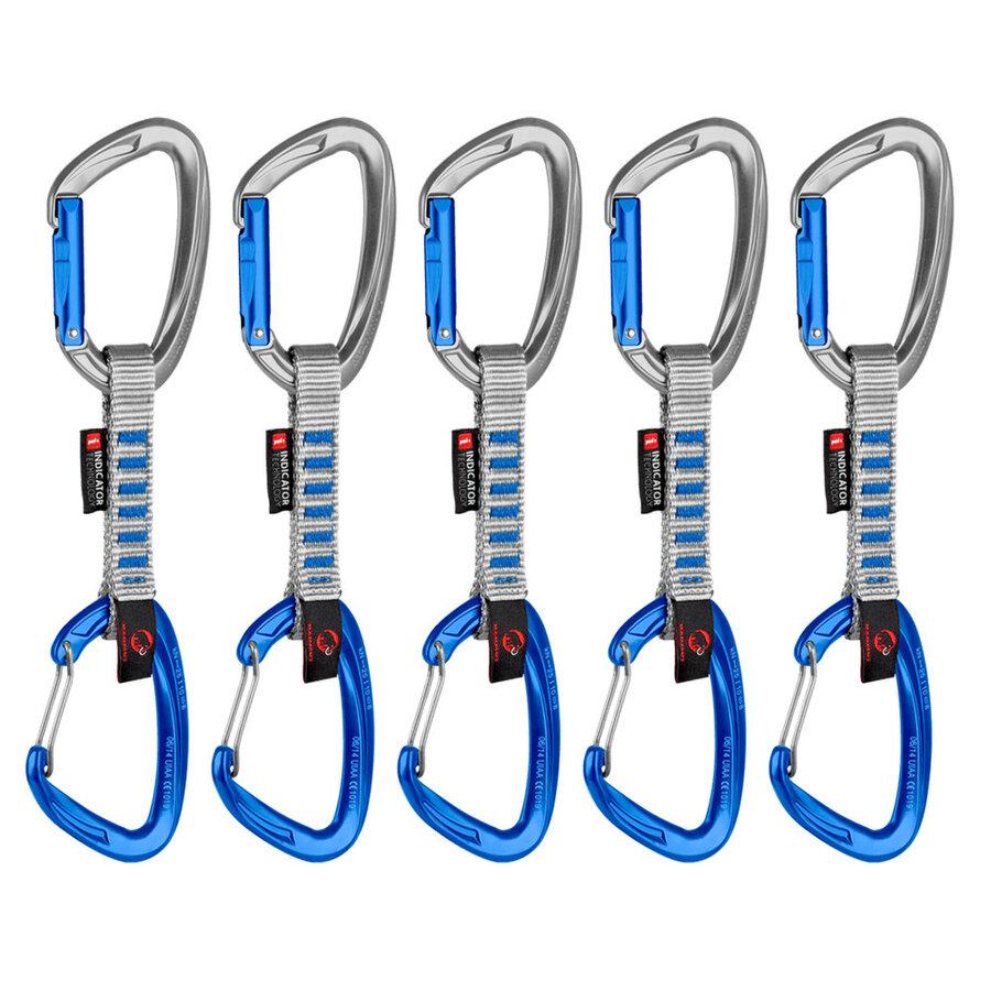 Expreska sada 5 ks 5er Pack Crag Indicator Wire Express Sets 10 cm, Mammut - délka 10 cm