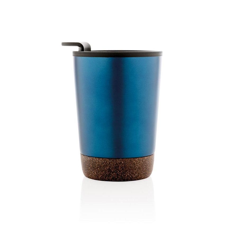 Modrý hrnek termo Cork, XD Design - objem 300 ml