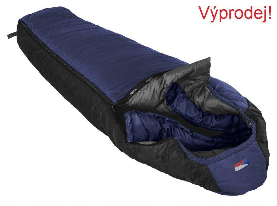 Modrý zimní spacák s levým zipem EVEREST 200/80, Prima - délka 200 cm