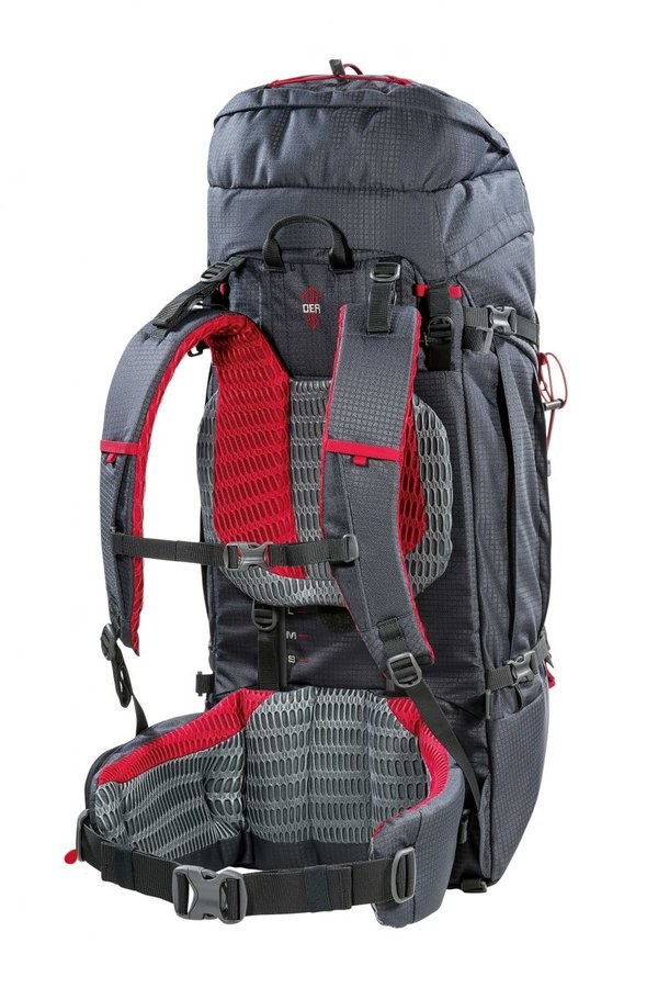 Šedý turistický batoh Overland 65+10 NEW, Ferrino - objem 65 l