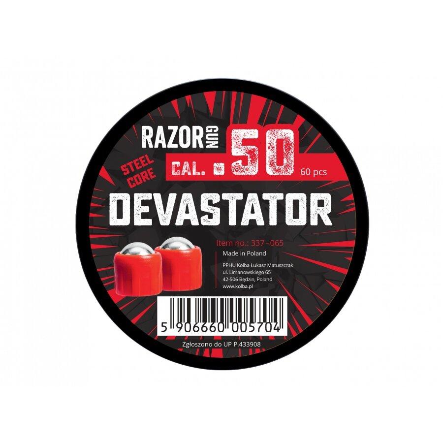 Kuličky RAM ocelové RazorGun Steel Core Devastator cal 0.50