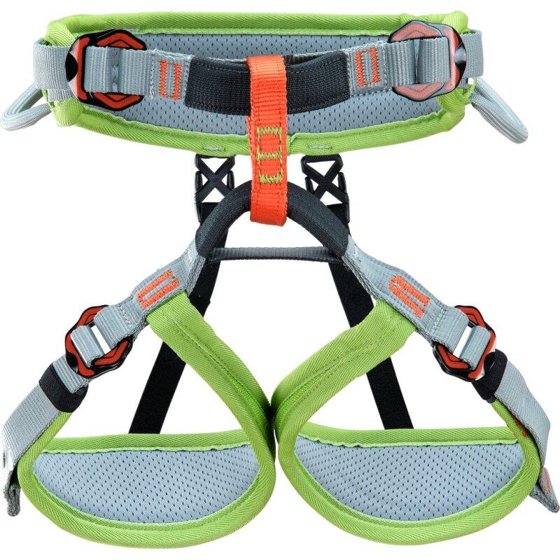 Zelený sedací úvazek Climbing Technology ASCENT JUNIOR