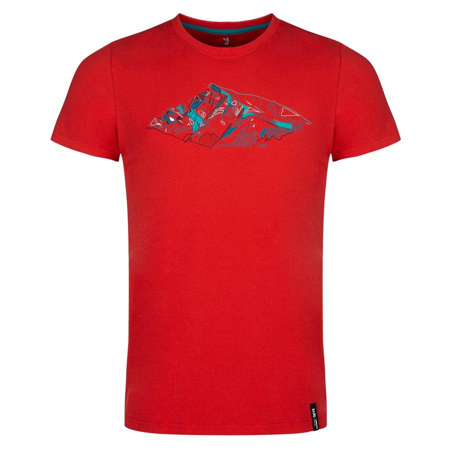 Červené pánské tričko Bormio T-shirt SS, Zajo - velikost M