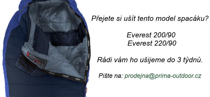 Modrý zimní spacák s levým zipem EVEREST 200/90, Prima - délka 200 cm
