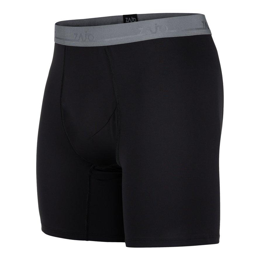 Černé syntetické pánské  Litio Boxer Shorts, Zajo