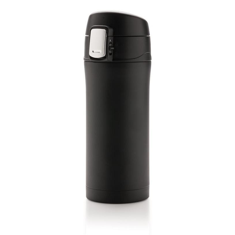 Černý hrnek termo Easy, Loooqs - objem 300 ml