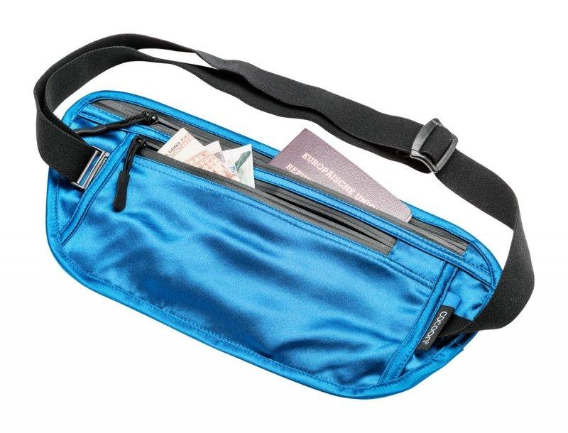 Modrá skrytá bezpečnostní ledvinka Cocoon Secret Waist Wallet