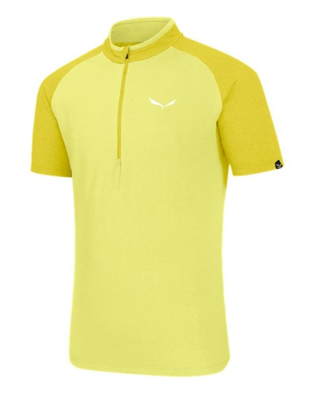 Žluté pánské tričko Agner Climb Dry, Salewa - velikost L
