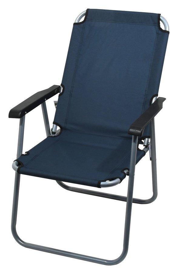 Modrá skladací židle Cattara LYON