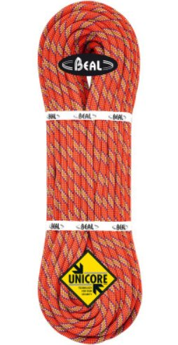 Oranžové lano Beal Tiger Unicore - délka 60 m a tloušťka 10 mm