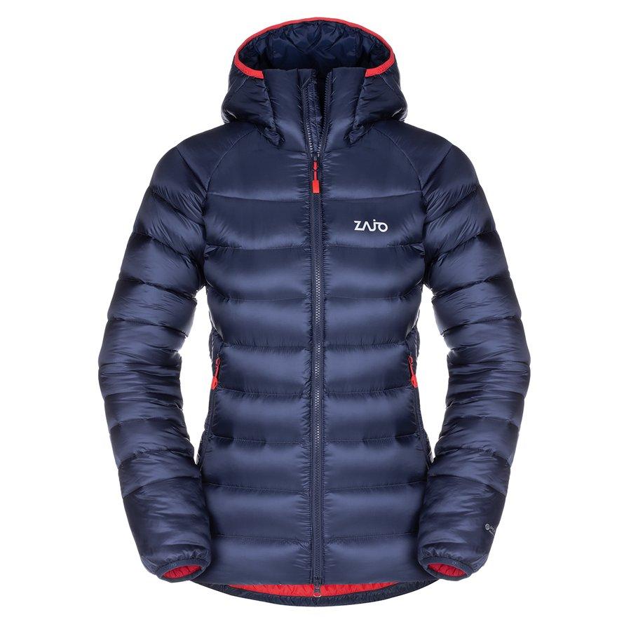 Modrá zimní dámská bunda s kapucí Valbella W Jkt, Zajo - velikost S
