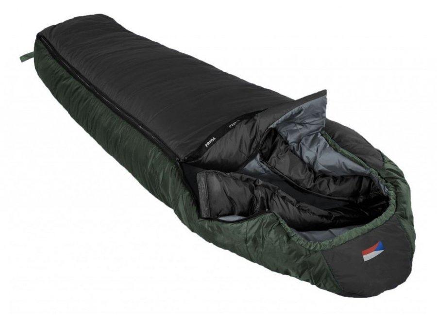 Černý letní spacák s levým zipem ANNAPURNA 180/75, Prima - délka 180 cm