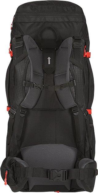 Černý turistický batoh Samont 60+10 l, Husky - objem 70 l