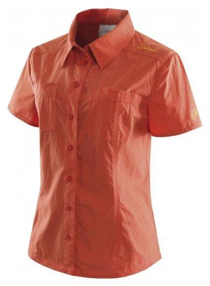 Oranžová dámská košile s krátkým rukávem larien, Hannah - velikost L