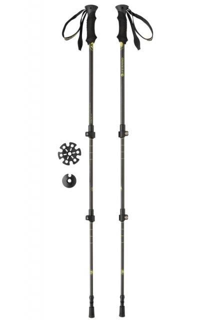 Černé trekové hole KAILASH, Ferrino - délka 135 cm