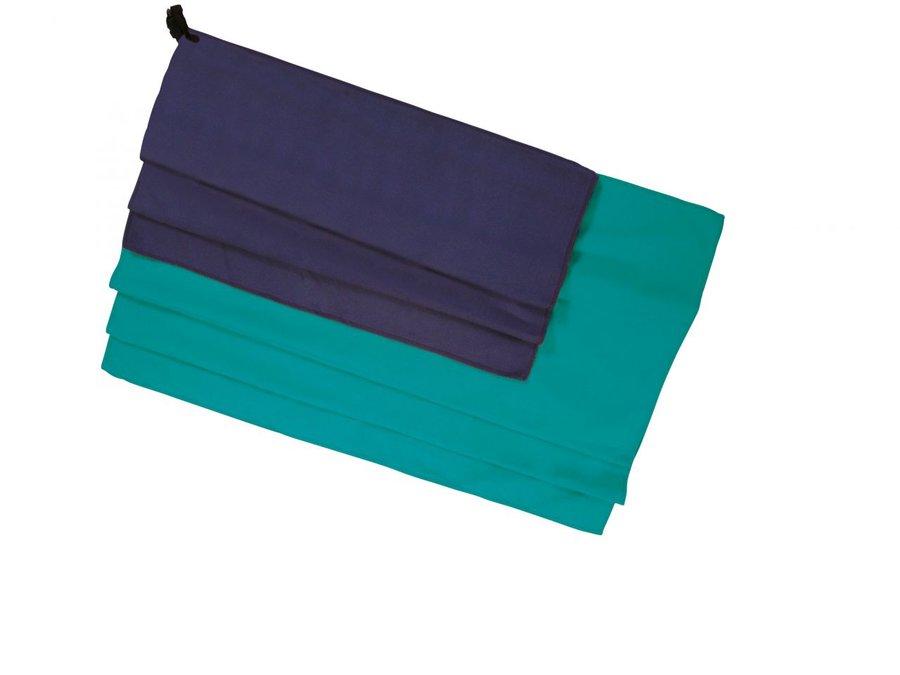 Modrý rychleschnoucí ručník X-LITE TOWEL, Ferrino - velikost M a 30x60 cm