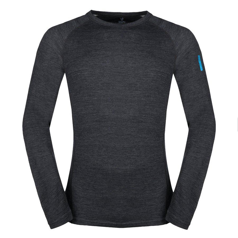 Černé pánské tričko s dlouhým rukávem Bergen Merino T-shirt LS, Zajo - velikost XL