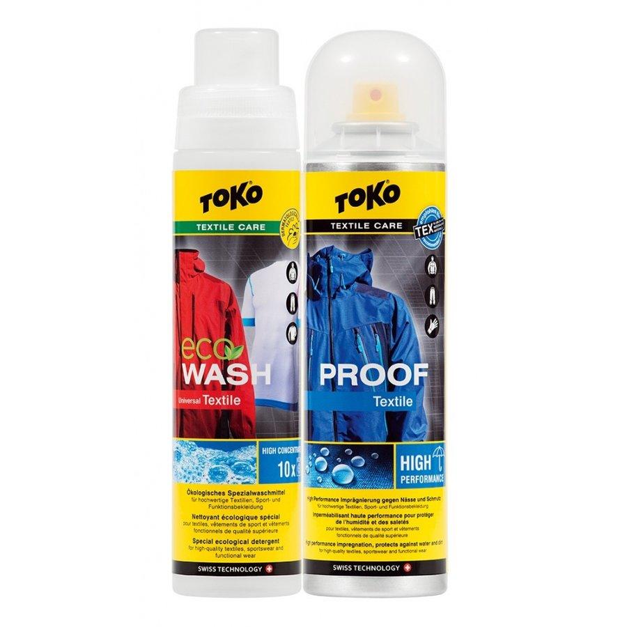Impregnační sprej na oblečení Duo-Pack Textile Proof & Eco Textile Wash, Toko