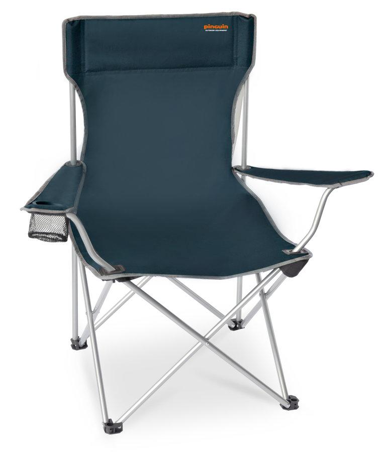 Modrá skladací židle Pinguin Fisher chair