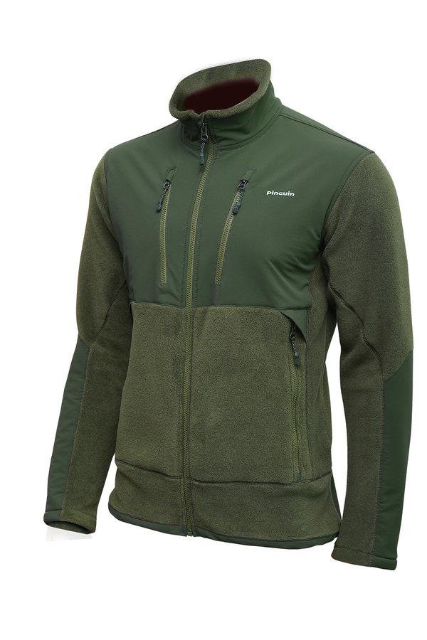 Zelená pánská mikina Ranger jacket, Pinguin
