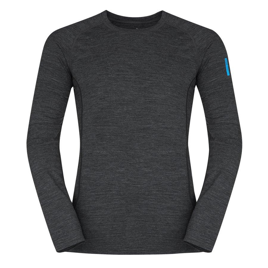 Černé pánské tričko s dlouhým rukávem Bjorn Merino Tshirt LS, Zajo - velikost XL