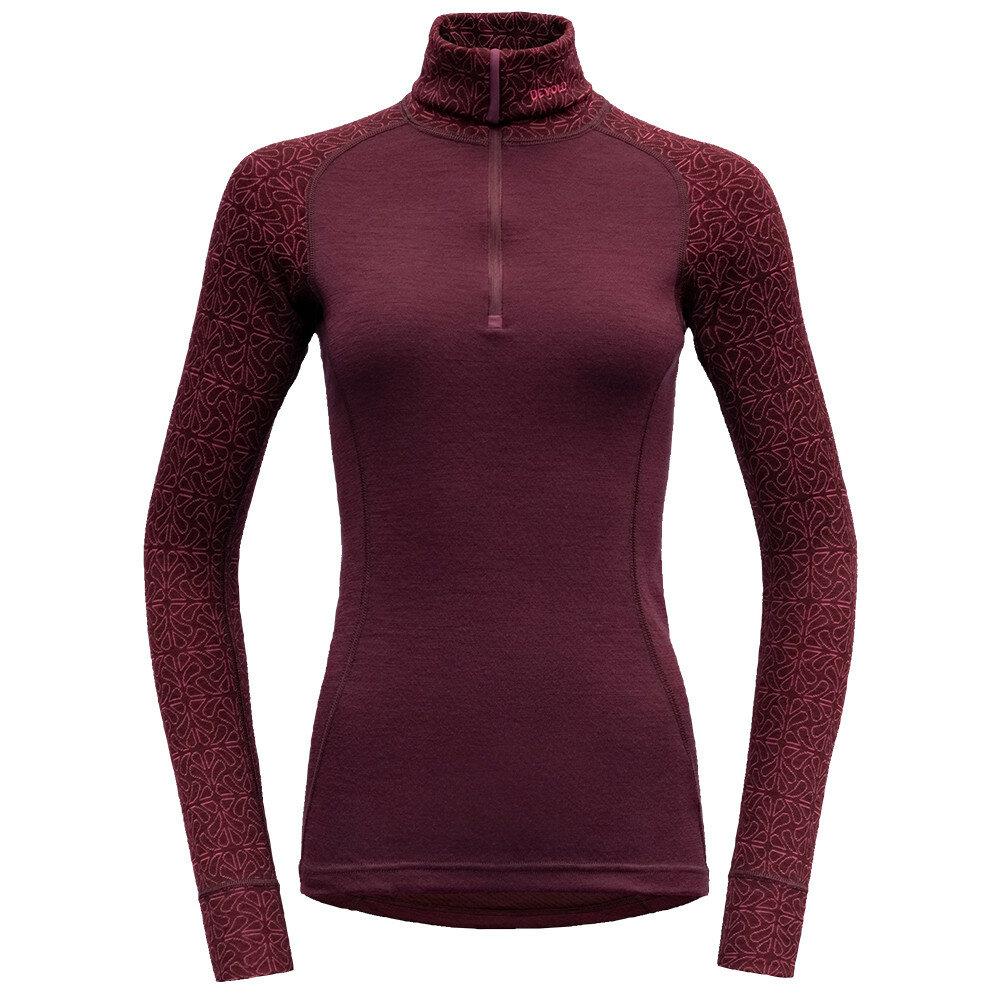 Merino tričko Devold DUO ACTIVE WOMAN ZIP NECK