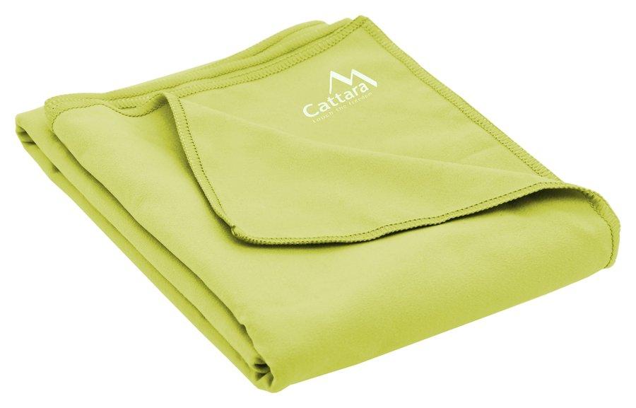 Zelený rychleschnoucí ručník BEACH, Cattara - velikost L a 70x140 cm