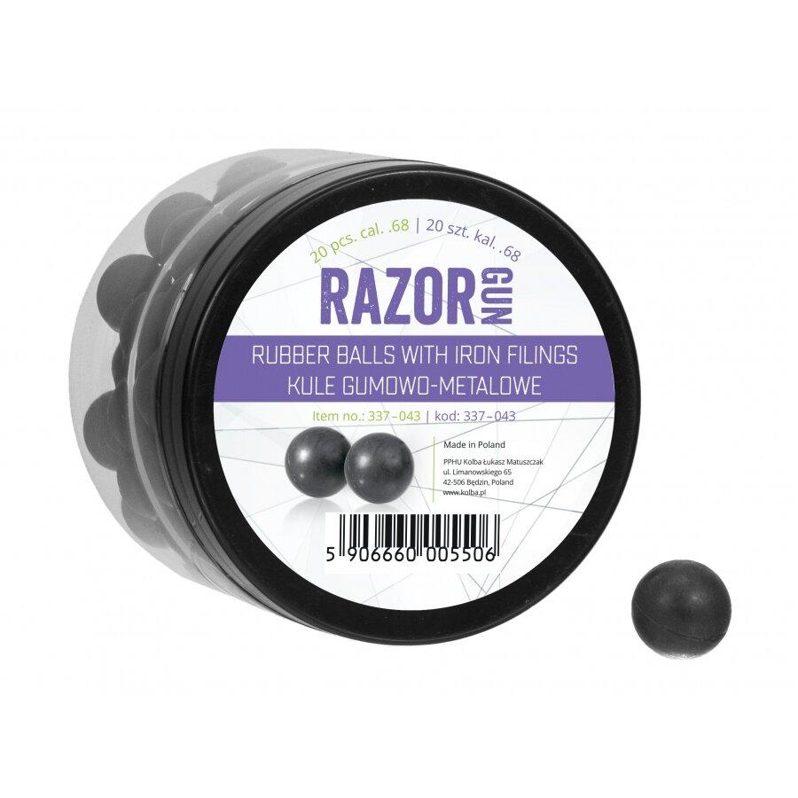 Kuličky RAM gumovo ocelové RazorGun 0.68 20 ks