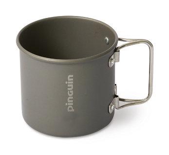 Šedý hrnek Mug Alu 0.3 L, Pinguin - objem 300 ml