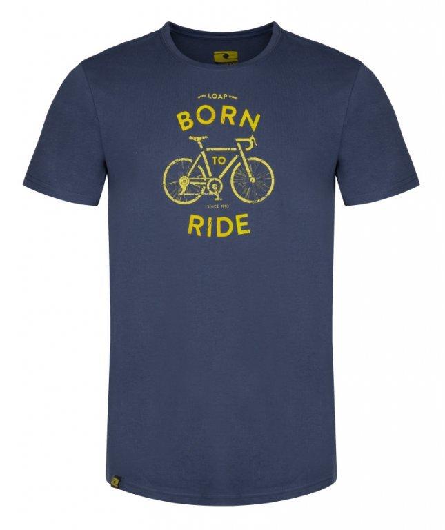 Modré pánské tričko BEBIKE, Loap