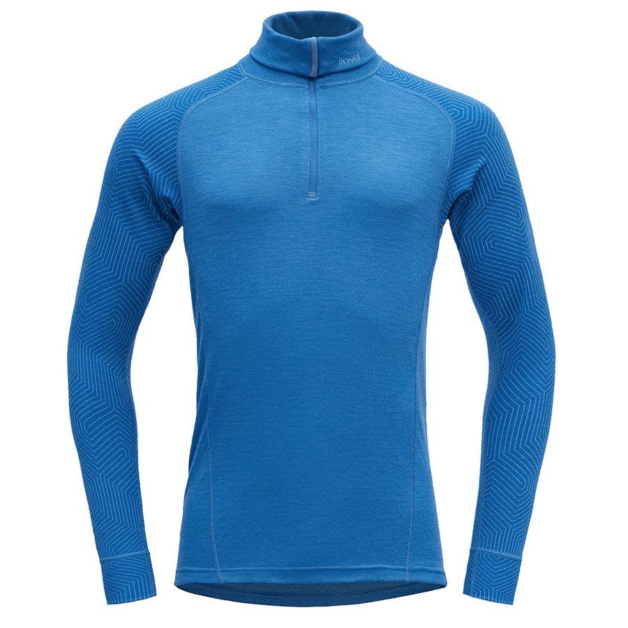 Merino pánské tričko Devold Duo Active Man Zip Neck - velikost XL