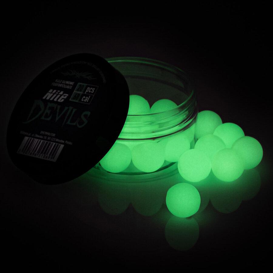 Kuličky RAM gumové fluoroscentní NITE DEVILS .68 - 20 ks