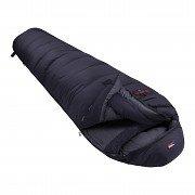 Černý péřový zimní spacák s pravým zipem POLAR 1500, Prima - délka 200 cm