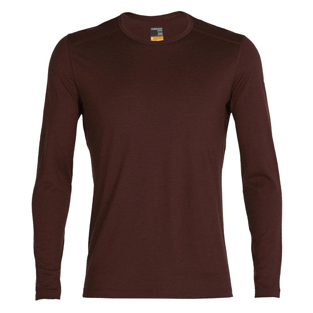 Merino pánské tričko Icebreaker 200 Oasis LS Crewe - velikost XL