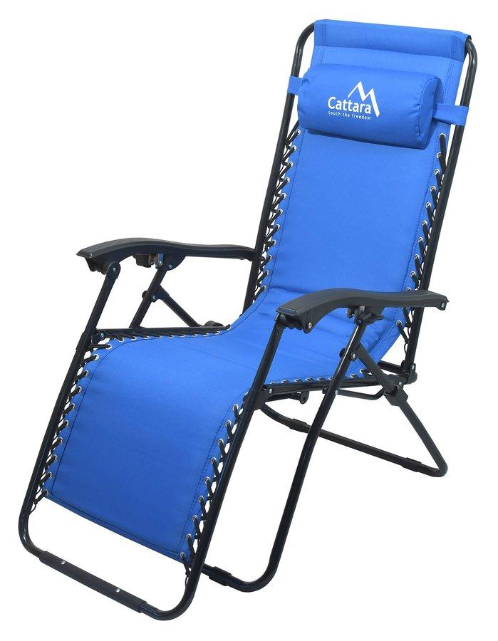 Modrá skladací židle Cattara LIVORNO