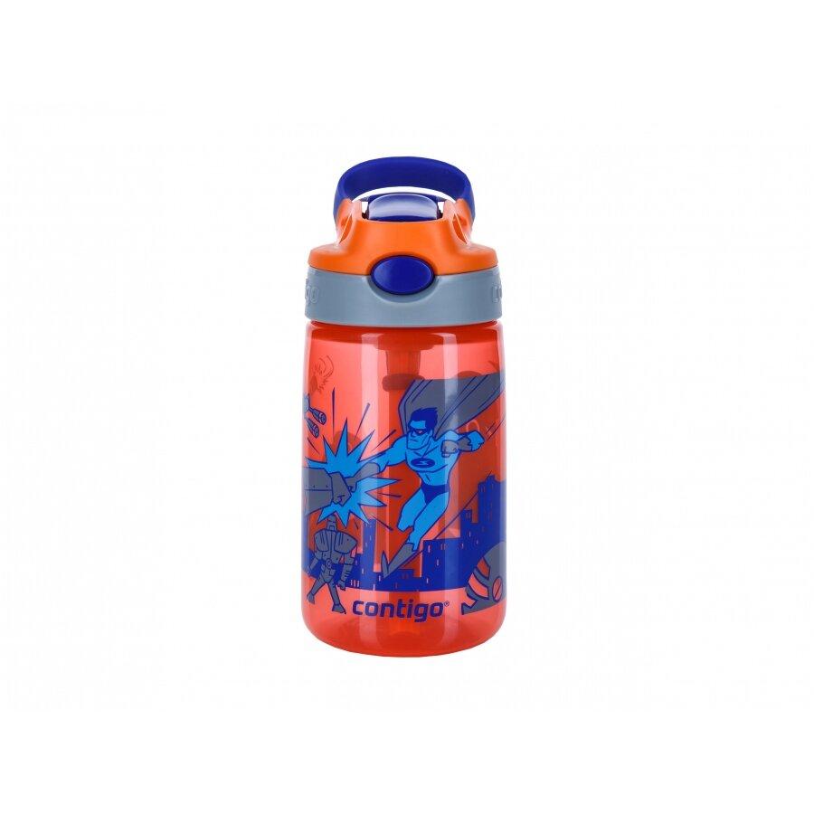 Červená dětská láhev s brčkem Contigo Autospout HL James 420 - objem 0,4 l
